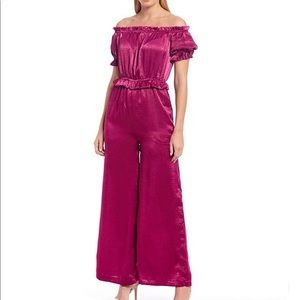 Endless Rose Off-the-Shoulder Wide Leg Jumpsuit
